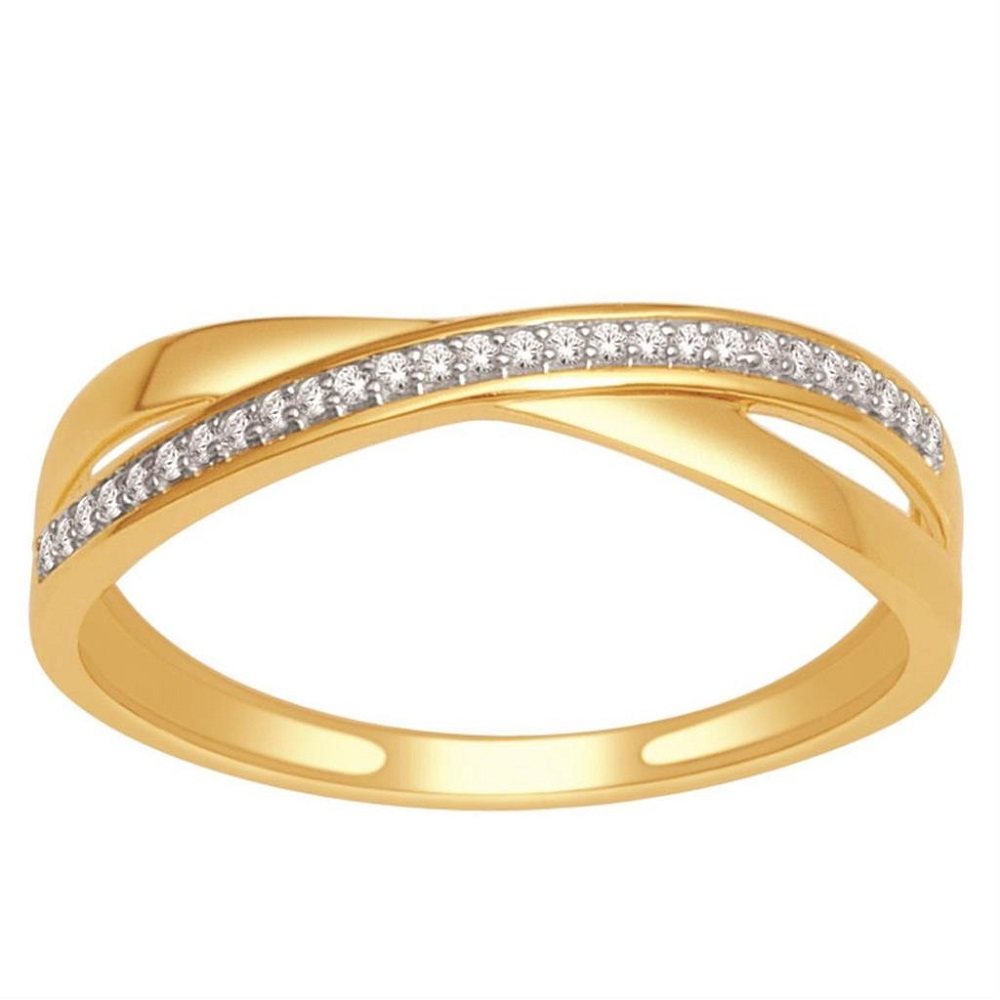 criss cross wedding band ring 10k yellow gold or white gold 0 07ctw
